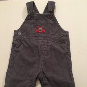 3m toddler Carters grey overall's